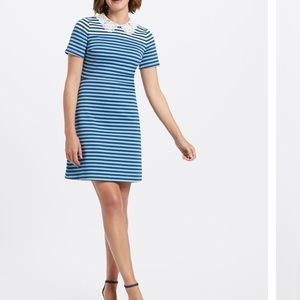 Draper James Lace Collar Striped Presley Dress